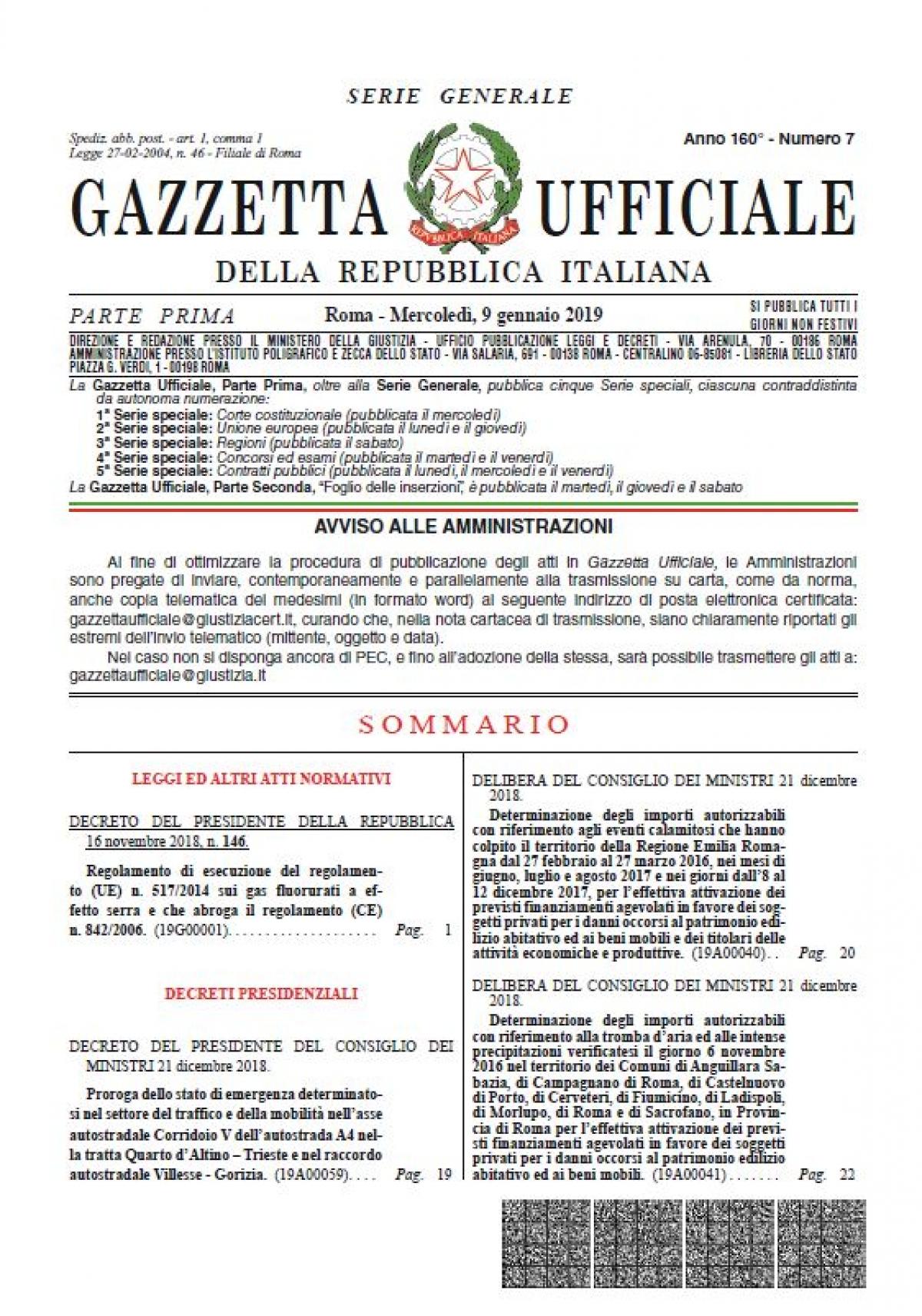 Bibliotema scaffale news for Decreto presidente della repubblica