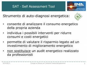 SAT ENCORE (Self Assessment Tool/ENergy COnsumption REduction tool)